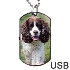 Ess Walking Dog Tag USB Flash (One Side)