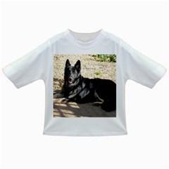 Black German Shepherd Laying Infant/Toddler T-Shirts