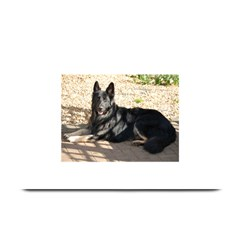 Black German Shepherd Laying Plate Mats
