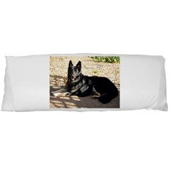 Black German Shepherd Laying Body Pillow Cases (Dakimakura)