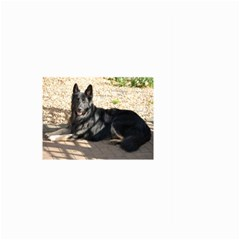 Black German Shepherd Laying Large Garden Flag (Two Sides)