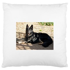 Black German Shepherd Laying Standard Flano Cushion Cases (One Side)