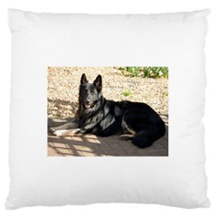 Black German Shepherd Laying Large Flano Cushion Cases (Two Sides)