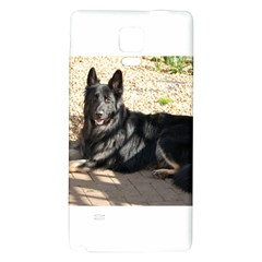 Black German Shepherd Laying Galaxy Note 4 Back Case