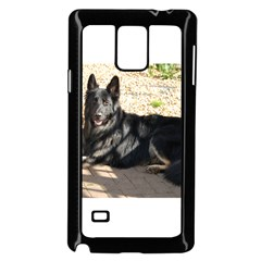Black German Shepherd Laying Samsung Galaxy Note 4 Case (Black)
