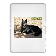 Black German Shepherd Laying Samsung Galaxy Tab 4 (10.1 ) Hardshell Case