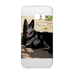 Black German Shepherd Laying Galaxy S6 Edge