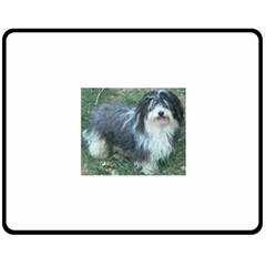 Havanese Full Double Sided Fleece Blanket (Medium)