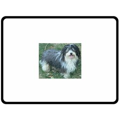 Havanese Full Double Sided Fleece Blanket (large)
