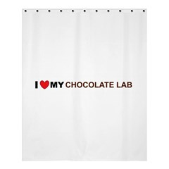 Choclate Labradore retriever Love Shower Curtain 60  x 72  (Medium)
