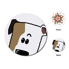Peeping Bulldog Playing Cards (Round)