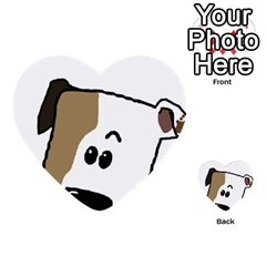 Peeping Bulldog Multi-purpose Cards (Heart)