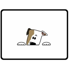 Peeping Bulldog Fleece Blanket (Large)
