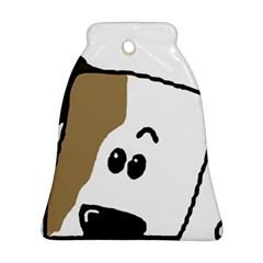 Peeping Bulldog Ornament (Bell)