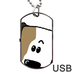 Peeping Bulldog Dog Tag USB Flash (Two Sides)