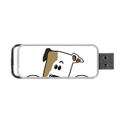 Peeping Bulldog Portable USB Flash (One Side)
