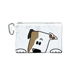 Peeping Bulldog Canvas Cosmetic Bag (S)