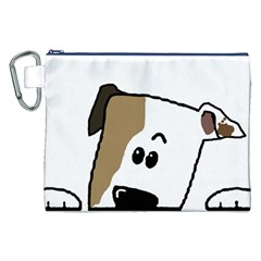 Peeping Bulldog Canvas Cosmetic Bag (XXL)
