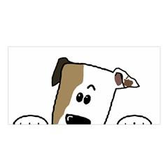 Peeping Bulldog Satin Shawl