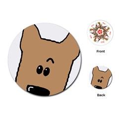 Peeping Yorkshire Terrier Playing Cards (round)