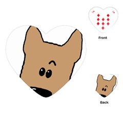 Peeping Yorkshire terrier Playing Cards (Heart)