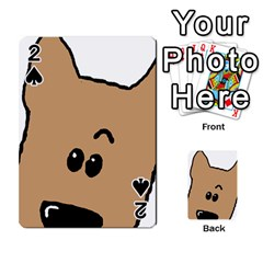 Peeping Yorkshire terrier Playing Cards 54 Designs