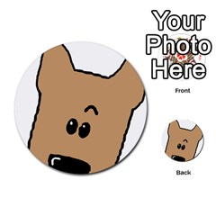 Peeping Yorkshire terrier Multi-purpose Cards (Round)