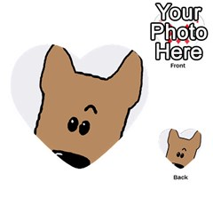 Peeping Yorkshire terrier Multi-purpose Cards (Heart)