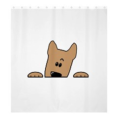 Peeping Yorkshire terrier Shower Curtain 66  x 72  (Large)