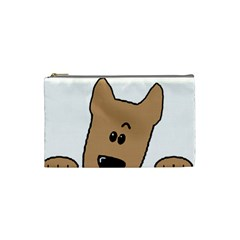 Peeping Yorkshire terrier Cosmetic Bag (Small)