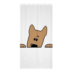 Peeping Yorkshire terrier Shower Curtain 36  x 72  (Stall)