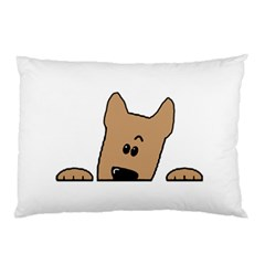 Peeping Yorkshire terrier Pillow Cases (Two Sides)