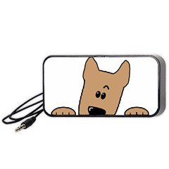 Peeping Yorkshire terrier Portable Speaker (Black)