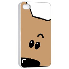 Peeping Yorkshire terrier Apple iPhone 4/4s Seamless Case (White)