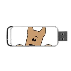 Peeping Yorkshire terrier Portable USB Flash (Two Sides)