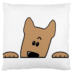 Peeping Yorkshire terrier Large Flano Cushion Cases (Two Sides)