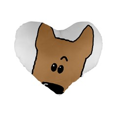 Peeping Yorkshire terrier Standard 16  Premium Flano Heart Shape Cushions