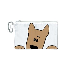 Peeping Yorkshire terrier Canvas Cosmetic Bag (S)