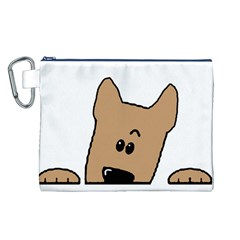 Peeping Yorkshire terrier Canvas Cosmetic Bag (L)