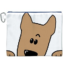 Peeping Yorkshire terrier Canvas Cosmetic Bag (XXXL)