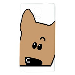 Peeping Yorkshire terrier Galaxy Note 4 Back Case