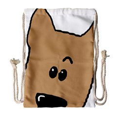 Peeping Yorkshire terrier Drawstring Bag (Large)