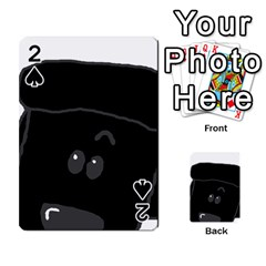 Peeping Black  Poodle Playing Cards 54 Designs