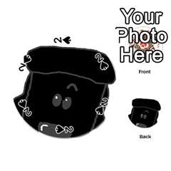 Peeping Black  Poodle Playing Cards 54 (Round)