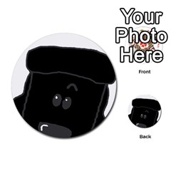 Peeping Black  Poodle Multi-purpose Cards (Round)