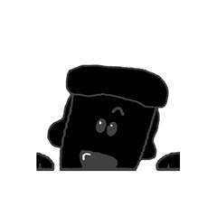 Peeping Black  Poodle 5.5  x 8.5  Notebooks