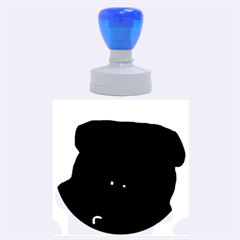 Peeping Black  Poodle Rubber Round Stamps (Large)