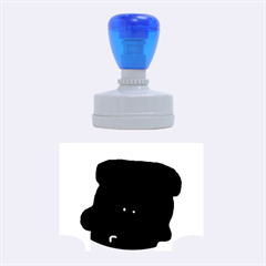 Peeping Black  Poodle Rubber Oval Stamps