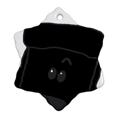 Peeping Black  Poodle Snowflake Ornament (2-Side)