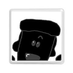 Peeping Black  Poodle Memory Card Reader (Square)